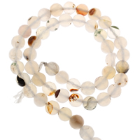 Zwei Ton Achat Perlen, Zweifarbiger Achat, rund, verschiedene Größen vorhanden & facettierte, Bohrung:ca. 1mm, verkauft per ca. 15 ZollInch Strang