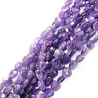 Natürliche Amethyst Perlen, Herz, Februar Birthstone & verschiedene Größen vorhanden & facettierte, Bohrung:ca. 0.5-1mm, verkauft per ca. 16 ZollInch Strang