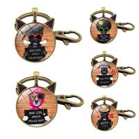 Zinklegierung Schlüssel Verschluss, Katze, antike Bronzefarbe plattiert, Zeit Edelstein Schmuck & verschiedene Muster für Wahl & mit Brief Muster & Aufkleber, frei von Blei & Kadmium, 93mm, Innendurchmesser:ca. 30mm, verkauft von PC