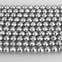 Südsee Muschelperlen, rund, facettierte, 8mm, 49PCs/Strang, verkauft per ca. 15.5 ZollInch Strang