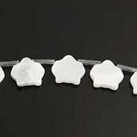 Natürliche weiße Muschelperlen, Haus, 12x11x2mm, Bohrung:ca. 0.8mm, ca. 20PCs/Strang, verkauft per ca. 11 ZollInch Strang