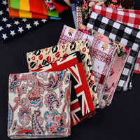 Unisex Taschentuch, Baumwollgewebe, Quadrat, verschiedene Muster für Wahl, 200x200mm, verkauft von PC