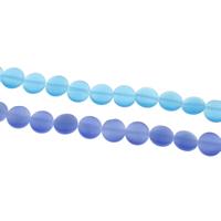 Cats Eye Perlen Schmuck, Katzenauge, flache Runde, keine, 10x4mm, Bohrung:ca. 1mm, ca. 40PCs/Strang, verkauft per ca. 15 ZollInch Strang