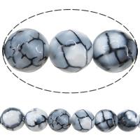 Natürliche Feuerachat Perlen, Freuer Knistern Achat, rund, verschiedene Größen vorhanden & facettierte, Bohrung:ca. 1-1.5mm, verkauft per ca. 15 ZollInch Strang