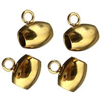 Edelstahl Kaution Perlen, goldfarben plattiert, 7x9x7mm, Bohrung:ca. 2mm, 3mm, 200PCs/Menge, verkauft von Menge