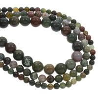 Natürliche Indian Achat Perlen, Indischer Achat, rund, verschiedene Größen vorhanden, Bohrung:ca. 1mm, verkauft per ca. 15.5 ZollInch Strang