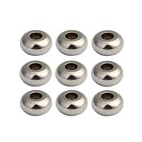 Edelstahl-Beads, Edelstahl, originale Farbe, 6mm, Bohrung:ca. 2mm, 50PCs/Tasche, verkauft von Tasche