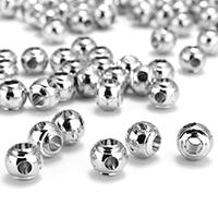 Messing Perlen Einstellung, Trommel, platiniert, frei von Nickel, Blei & Kadmium, 7x6x7mm, Bohrung:ca. 2.5mm, 3mm, ca. 300PCs/Tasche, verkauft von Tasche