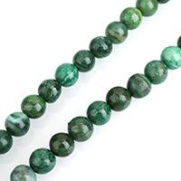 Jade Perlen, afrikanische Jade, rund, natürlich, verschiedene Größen vorhanden, Bohrung:ca. 0.5-2mm, verkauft per ca. 15 ZollInch Strang