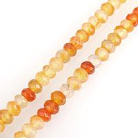 Natürlich rote Achat Perlen, Roter Achat, Rondell, gefärbt & verschiedene Größen vorhanden & facettierte, verkauft per ca. 15 ZollInch Strang