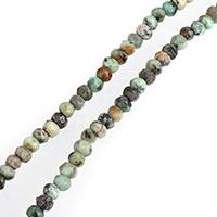 Türkis Perlen, Natürliche afrikanische Türkis, Rondell, natürlich, verschiedene Größen vorhanden & facettierte, verkauft per ca. 15 ZollInch Strang