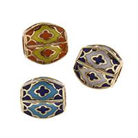 Messing European Perlen, goldfarben plattiert, keine, frei von Nickel, Blei & Kadmium, 11x10mm, Bohrung:ca. 5mm, verkauft von PC