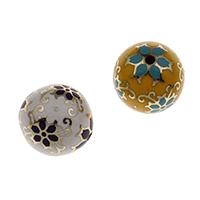 Messing Schmuckperlen, rund, goldfarben plattiert, keine, frei von Nickel, Blei & Kadmium, 20mm, Bohrung:ca. 2mm, verkauft von PC