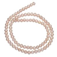 Natürliche Süßwasser, lose Perlen, Natürliche kultivierte Süßwasserperlen, Rosa, 4-5mm, Bohrung:ca. 0.8mm, verkauft per ca. 15 ZollInch Strang