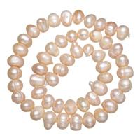Barock kultivierten Süßwassersee Perlen, Natürliche kultivierte Süßwasserperlen, natürlich, Rosa, 7-8mm, Bohrung:ca. 0.8mm, verkauft per ca. 15 ZollInch Strang