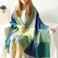 Mode Schal, Wolle, verschiedene Muster für Wahl, 200cm, verkauft von Strang
