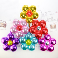 Ballone, Alufolie, gemischte Farben, 35x38cm, 20PCs/Tasche, verkauft von Tasche