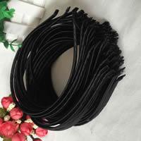 Haarreif, Zinklegierung, mit PU Leder, plattiert, frei von Blei & Kadmium, 5mm, 20PCs/Tasche, verkauft von Tasche