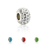 Ton European Perlen, mit Zinklegierung, Platinfarbe platiniert, Zink Legierung einadrig ohne troll, keine, frei von Nickel, Blei & Kadmium, 8x11mm, Bohrung:ca. 4.5mm, 10PCs/Menge, verkauft von Menge