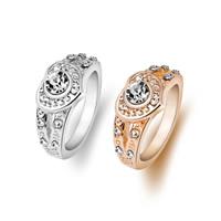 Zinklegierung Fingerring , Herz, plattiert, verschiedene Größen vorhanden & für Frau & mit Strass, keine, frei von Nickel, Blei & Kadmium, Innendurchmesser:ca. 18mm, verkauft von PC