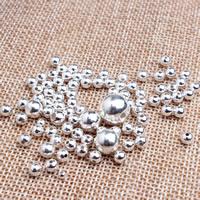 925 Sterling Silber Zwischenperlen, silberfarben plattiert, verschiedene Größen vorhanden, 10PCs/Tasche, verkauft von Tasche
