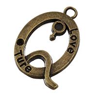 Zink-Legierung Cabochon Weissgold, Zinklegierung, antike Bronzefarbe plattiert, frei von Nickel, Blei & Kadmium, 19x26x4mm, Bohrung:ca. 2.5mm, Innendurchmesser:ca. 2, 1mm, 150PCs/Tasche, verkauft von Tasche