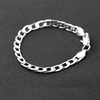 Zinklegierung Armband, Platinfarbe platiniert, Kandare Kette & für Frau, frei von Nickel, Blei & Kadmium, verkauft per ca. 7.8 ZollInch Strang