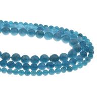 Natürlicher Quarz Perlen Schmuck, Aquamarin, rund, März Birthstone & verschiedene Größen vorhanden, Bohrung:ca. 1mm, verkauft per ca. 15.5 ZollInch Strang