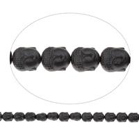 Nicht-magnetische Hämatit Perlen, Non- magnetische Hämatit, Buddha, buddhistischer Schmuck, 8.50x10x7.50mm, Bohrung:ca. 1mm, ca. 39PCs/Strang, verkauft per ca. 15.5 ZollInch Strang