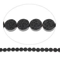 Nicht-magnetische Hämatit Perlen, Non- magnetische Hämatit, flache Runde, 12x4mm, Bohrung:ca. 1mm, ca. 33PCs/Strang, verkauft per ca. 15.5 ZollInch Strang