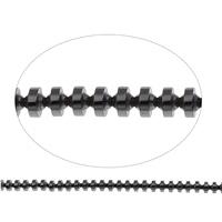 Nicht-magnetische Hämatit Perlen, Non- magnetische Hämatit, 4x3x4mm, Bohrung:ca. 1mm, ca. 132PCs/Strang, verkauft per ca. 15.5 ZollInch Strang