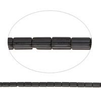 Nicht-magnetische Hämatit Perlen, Non- magnetische Hämatit, 3.50x7x3.50mm, Bohrung:ca. 1mm, ca. 57PCs/Strang, verkauft per ca. 15.5 ZollInch Strang