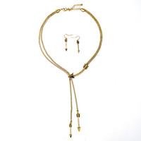 Zinklegierung Schmucksets, Ohrring & Halskette, mit Verlängerungskettchen von 7cm, plattiert, keine, frei von Blei & Kadmium, 380mm, Länge:ca. 14.5 ZollInch, verkauft von setzen