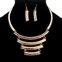 Zinklegierung Schmucksets, Ohrring & Halskette, plattiert, keine, frei von Blei & Kadmium, 500mm, Länge:ca. 19.5 ZollInch, verkauft von setzen