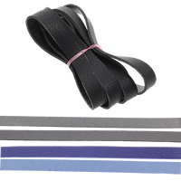 Lederband, PU Leder, doppelseitig, keine, 10x1.5mm, 1m/Strang, verkauft von Strang