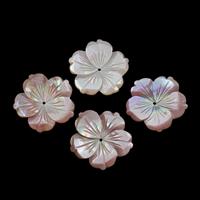 Natürliche Rosa Muschelperlen, Blume, 28x3mm, Bohrung:ca. 1.2mm, 10PCs/Tasche, verkauft von Tasche