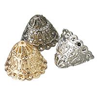Zinklegierung Perlenkappe, plattiert, keine, frei von Blei & Kadmium, 21x16mm, Bohrung:ca. 1.5mm, 10PCs/Tasche, verkauft von Tasche