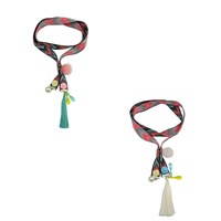Zinklegierung Pullover Halskette, Nylon, mit Baumwolle Schnur & Glasperlen & Harz & Zinklegierung, plattiert, für Frau & mit Strass, keine, 90mm, verkauft per ca. 40.2 ZollInch Strang