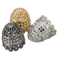 Zinklegierung Perlen Kappe Einstellung, plattiert, keine, frei von Blei & Kadmium, 22x24mm, Bohrung:ca. 1.5mm, Innendurchmesser:ca. 1.5mm, 10PCs/Tasche, verkauft von Tasche