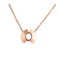 Titanstahl Halskette, plattiert, Oval-Kette & für Frau, keine, 12x6x13mm, verkauft per ca. 17.7 ZollInch Strang