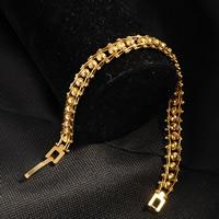 Herren-Armband & Bangle, Messing, 24 K vergoldet, für den Menschen, frei von Nickel, Blei & Kadmium, 8mm, verkauft per ca. 7.5 ZollInch Strang