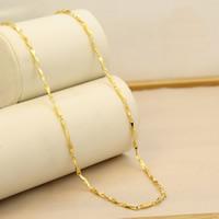 Messing Halskette, 24 K vergoldet, Bar-Kette & für Frau, frei von Nickel, Blei & Kadmium, 2mm, verkauft per ca. 17.5 ZollInch Strang