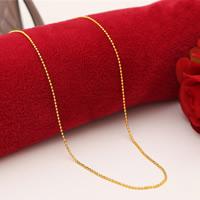 Messing Halskette, 24 K vergoldet, Kugelkette & für Frau, frei von Nickel, Blei & Kadmium, 1.5mm, verkauft per ca. 18 ZollInch Strang