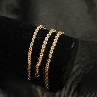 Messing Halskette, 24 K vergoldet, Rundgliederkette & für Frau, frei von Nickel, Blei & Kadmium, 4mm, verkauft per ca. 18.5 ZollInch Strang