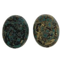 Acryl Schmuck Perlen, flachoval, 26x32.50x18.50mm, Bohrung:ca. 3mm, ca. 61PCs/Tasche, verkauft von Tasche