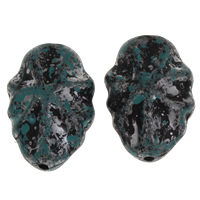 Acryl Schmuck Perlen, 22.50x33.50x14mm, Bohrung:ca. 2.5mm, ca. 80PCs/Tasche, verkauft von Tasche