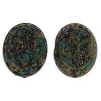 Acryl Schmuck Perlen, flachoval, 20.50x25x17.50mm, Bohrung:ca. 2mm, ca. 96PCs/Tasche, verkauft von Tasche