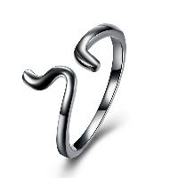Messing Manschette Fingerring, metallschwarz plattiert, einstellbar & verschiedene Größen vorhanden & für Frau, frei von Nickel, Blei & Kadmium, 10mm, verkauft von PC