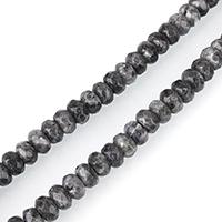 Labradorit Perlen, Rondell, facettierte, 6x8mm, Bohrung:ca. 1mm, ca. 77PCs/Strang, verkauft per ca. 15 ZollInch Strang