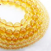 Natürlicher Citrin Perlen, Gelbquarz Perlen, rund, November Birthstone & verschiedene Größen vorhanden, verkauft per ca. 15 ZollInch Strang